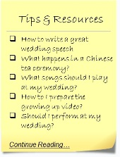 Wedding Tips and Resources
